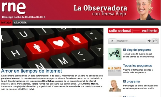 RNE Teresa Viejo Internet 9 Jun 2014