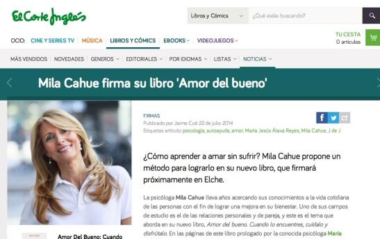 Firma Corte Inglés Elche 26 Julio 2014