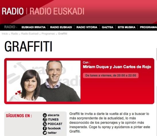 Graffiti Radio Euskadi 11 Julio 2014