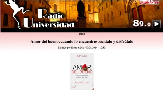 Radio Universidad Salamanca 8 Julio 2014