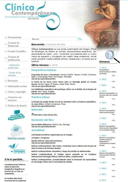 Portada Revista Clínica Contemporánea
