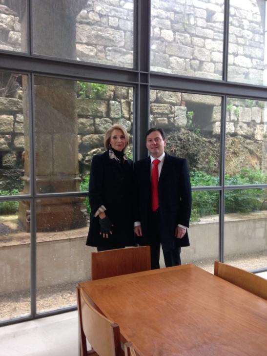 Con el Profesor y Organizador del Congreso, Delphim Leao, exquisito en su trato